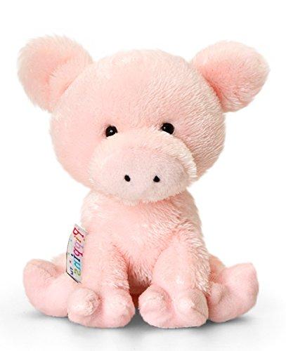 Lashuma Plüschtier Schwein Curly, Rosa Ferkel, Kuscheltier Pippins 14 cm