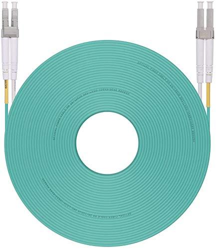H!Fiber.com LC a LC Cable de Fibra óptica Multimodo Dúplex OM3 10Gb...