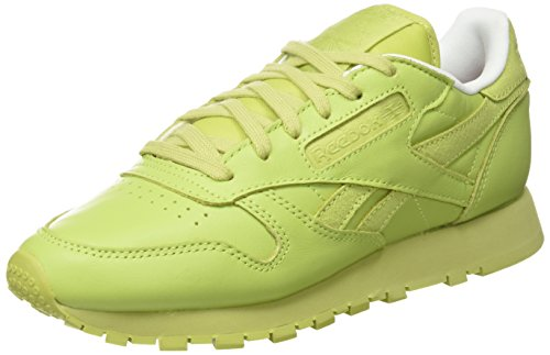 Reebok Damen x FACE Stockholm Classic Leather Spirit Sneaker, Grün (Stunning Green/White/Rosette), 37 EU