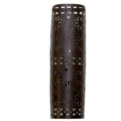 Marokkaanse ijzeren wandlamp - ijzer - hoogte 41cm x breedte 13cm x diepte 7cm