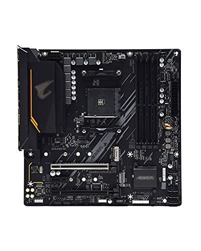 Apto para Placa Base Fit for GIGABYTE GA B550M AORUS Elite Micro-ATX AMD B550 DDR4 M.2 USB3.2 128G Placa Base de Doble Canal AM4