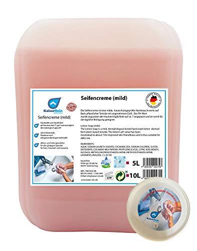 KaiserRein Handwaschpaste 500 ml + Milde Seife 10 l Kanister zum nachfüllen vorhandener flüssig Seifenspender Seife Nachfüller Flüssigseife Handseife