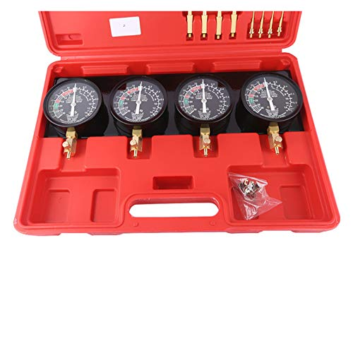 Go Kart Carburetor Sincronizador de carburador de carburador de vacío de combustible portátil 4 Kit de herramientas de mangles Kit de combustible de carburador de carburador de carburador de carburado