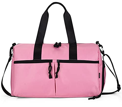 AERJMA Sport Palestra Bag Uomini E Donne Grande Capacità Portatile Da Viaggio Duffle Bag Indipendente Scarpa Magazzino Viaggi Business Boarding Bagagli Bag rosa
