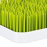 little Choice Abtropfgestell Babyflaschen, Auffangschale, Gras-Design, Flaschentrockner, Kunststoff, 23x23cm, grün/weiß - 5