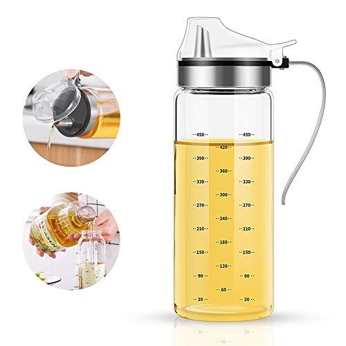 FARI Botellas dispensadoras de aceite de oliva – 500 ml, sin plomo, para cocina y barbacoa 500 ml
