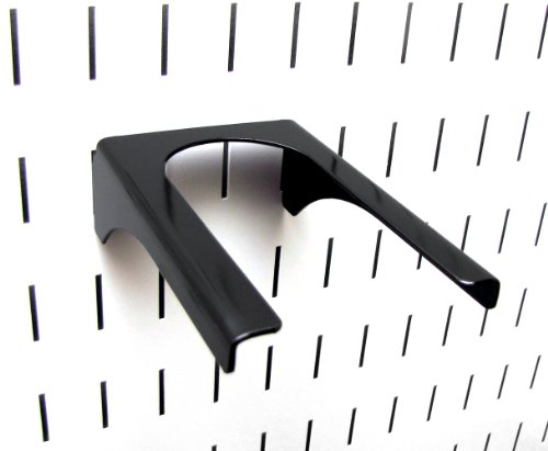 Wall Control Pegboard 2in Handle Pegboard Bracket Slotted Metal Pegboard Hook Pegboard and Slotted Tool Board – Black
