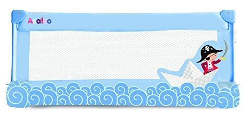Asalvo, 12685, Barrera de Cama, 90 cm, Diseño Barquito de Papel, Color Azul