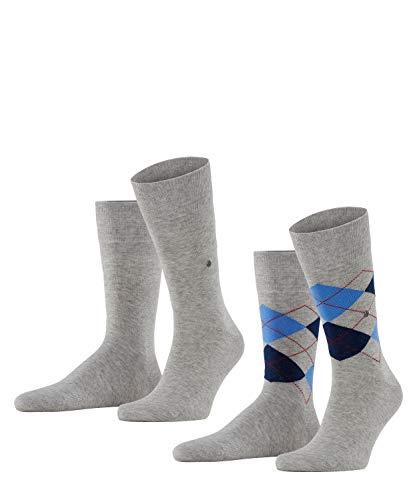 Burlington Herren Everyday Mix 2-Pack M SO Socken, Grau (Light Grey 3400), 40-46 (UK 6.5-11 Ι US 7.5-12)
