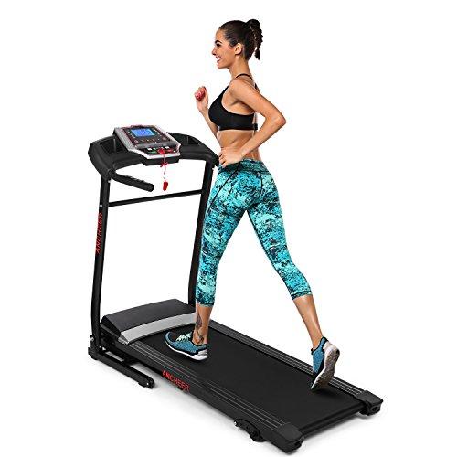 Ziema Electric Folding Treadmill, Manual Incline Motorized Running Machine (Black)