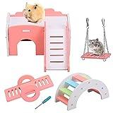 HAMOOM Hámster juguete hámster casa accesorios conejos rueda juguete juguete juguete juguete de entrenamiento juguete para masticar para cobayas chinchilla jerbos hámster enano