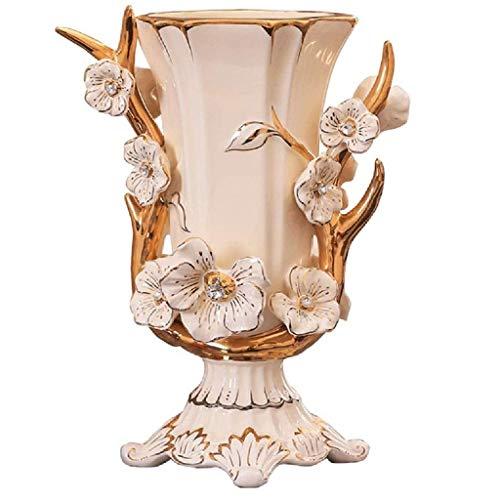 ZZABC Florero de ceramica, Sala de Estar Mesa de Comedor Mesa de Comedor Gran jarron decoracion Dormitorio Hotel de la Oficina decoracion del hogar