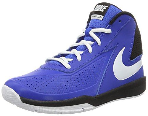 Nike Team Hustle D7 GS, Scarpe da Basket Uomo, Multicolore (Game Royal/White/Black), 39 EU