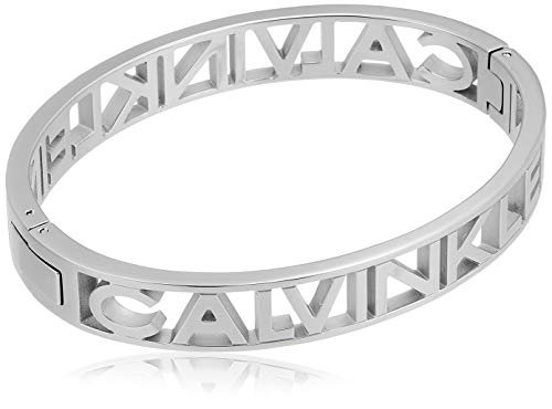 Calvin Klein Unisex-Armreif Edelstahl M Silber 32012745