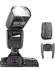 Neewer® Flash Speedlite con Sistema inalámbrico de 2,4 G y 15 Canales transmisor para DSLR Canon Nikon Sony Panasonic Olympus Fujifilm Pentax y Otras cámaras DSLR con estándar Zapata Hotshoe (NW570)