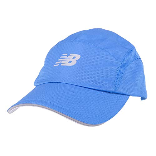 New Balance Men's and Women's 5-Panel Athletic Performance Hat V3.0, Moisture Wicking Adjustable Cap Lapis Blue