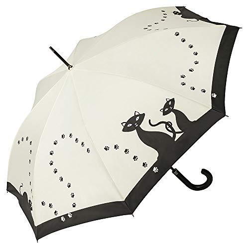 VON LILIENFELD Regenschirm Schwarze Katzen Auf-Automatik Stockschirm Damen Kinder Mädchen Kätzchen Leicht Stabil