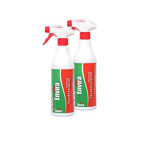 Envira Universal Insektenschutz - Hochwirksames Insekten-Spray Mit Langzeitschutz - Auf Wasserbasis - 2x500ml