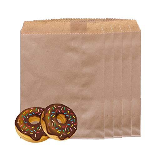 HONGECB 100pz Sacchetti Carta Kraft Bustine Piccoli, Sacchetto Regalo Carta/Sacchetto di Carta per Alimenti, Sacchetti Pranzo, Utilizzato per il compleanno della festa di Natale