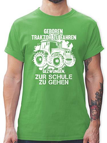 Andere Fahrzeuge - Geboren um Traktor zu Fahren - M - Grün - t-Shirt Herren s Traktor - L190 - Tshirt Herren und Männer T-Shirts