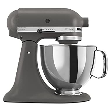 KitchenAid KSM150PSGR Artisan Series 5-Qt. Stand Mixer with Pouring Shield - Imperial Grey