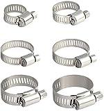 Discra Collare di serraggio (30 Pezzi) - Fascette stringitubo regolabili in acciaio inossidabile