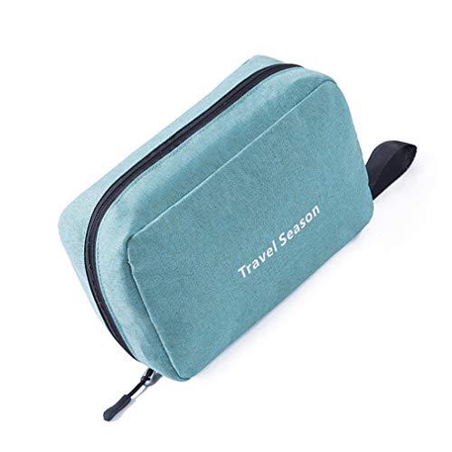 LKMY Borsa da viaggio portatile multifunzionale in nylon Borsa cosmetica per contenere articoli da toeletta sospesi di grande capacità Borsa da doccia impermeabile per trucco Unisex