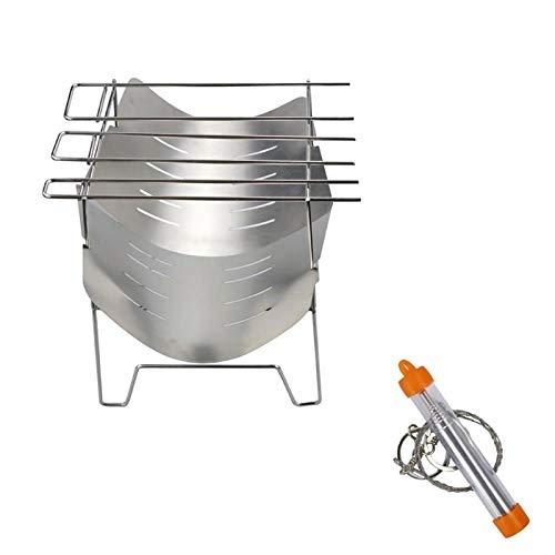 Estufa de leña plegable de acero inoxidable para estufa de leña para camping 6 personas