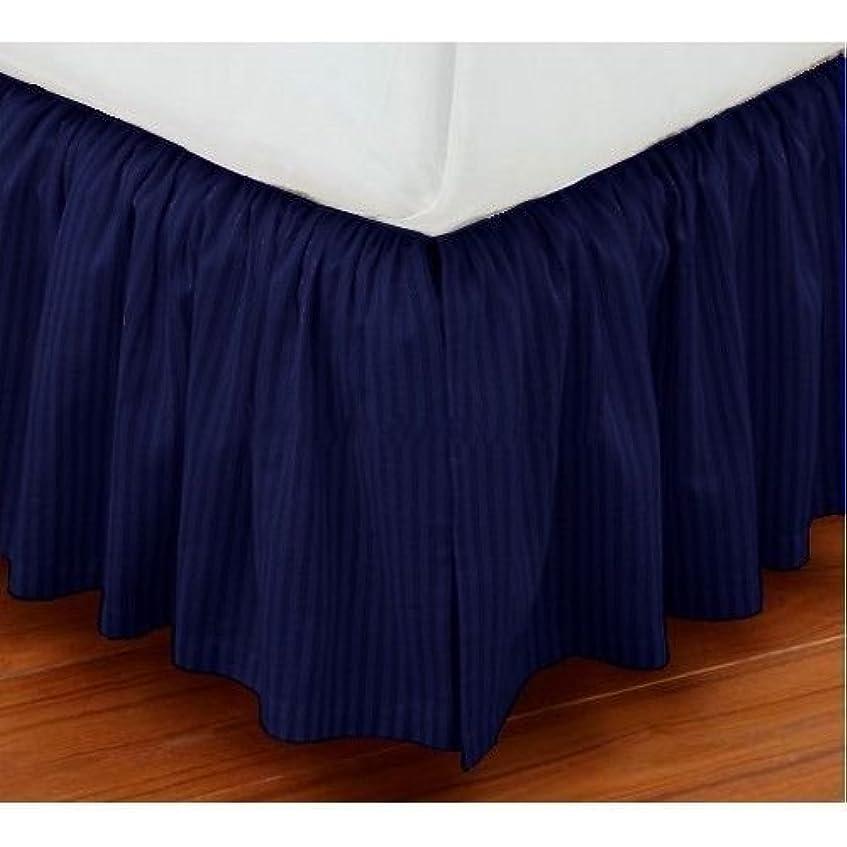 飽和するカスタム外交問題Vivaciousコレクションホテル品質800tc Pure綿ほこりフリル付きベッドスカート20?