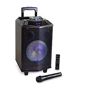 HAISER HSR 131 BT   Mobiler-Party-Lautsprecher mit • Akku • Mikrofon • Bluetooth • USB • Micro SD • MP3 • Radio • Fernbedienung   Musik-Box-Anlage Karaoke-System Trolley mit leistungsstarkem Bass