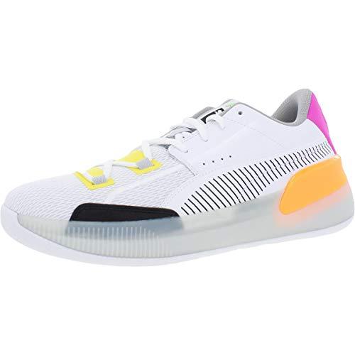 PUMA Mens Clyde Hardwood Retro White Athletic Basketball Shoes 12