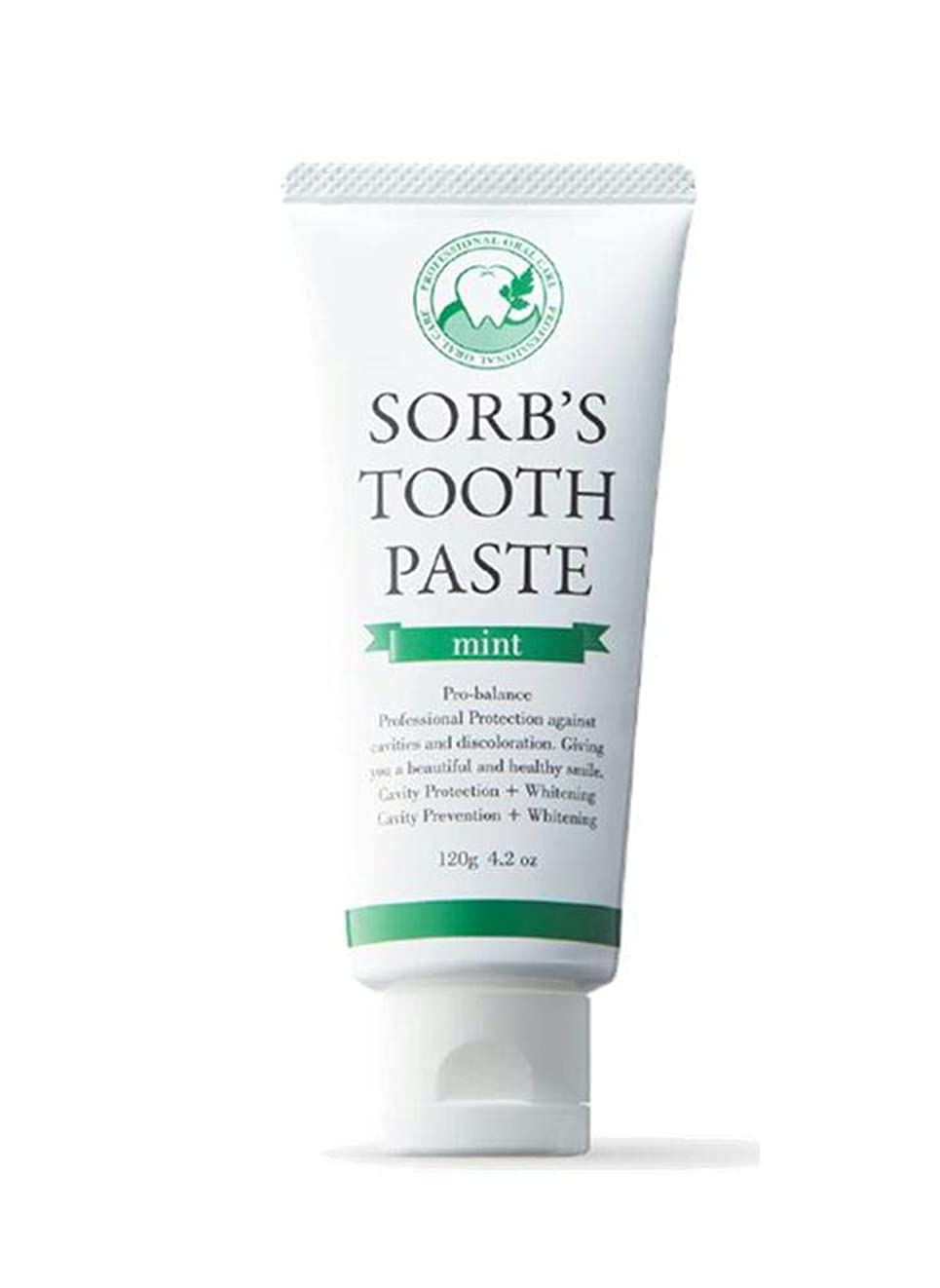 映画それに応じて闇ソーブズ トゥースペースト ミント 120g 歯磨き粉 SORB'S ソーブス TOOTH PASTE mint ダチョウ抗体