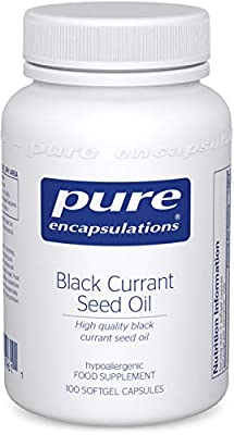 Pure Encapsulations - Black Currant Seed Oil 500mg - High Quality Black Currant Seed Oil - 100 Softgel Capsules