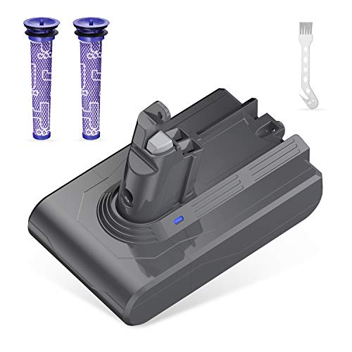 Lordone 21.6V 3500mAh Replacement Battery Compatible for V6 SV04 SV03 DC58 DC59 DC61 DC62 Animal DC72 Series Handheld Vacuum