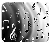 黒と白の音楽ノート耐久性のあるマウスパッド