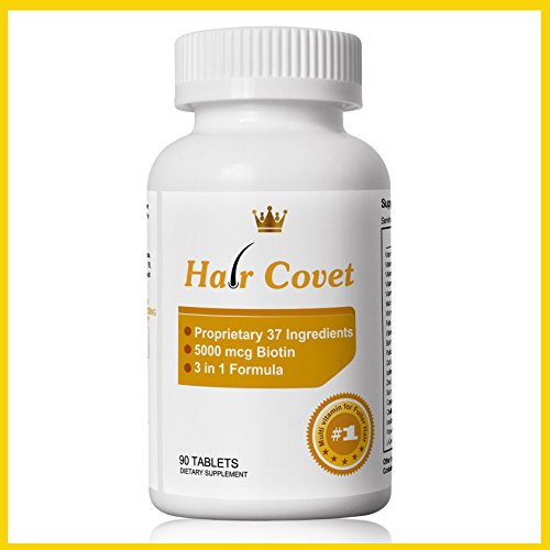 Hair Covet by Lipogaine - Natural DHT Blocker, 3 in 1 Formula to regrow...