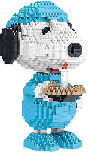 LNLJ Micro Diamond Building Block para Niños - Modelo De Perro 3D Snoopy Puzzle Toy, Figuras De Dibujos Animados Regalo para Adultos Y Niños,E