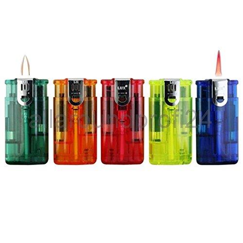allaroundprofi24 5 X 2 Flammen Sturmfeuerzeug Nachfüllbar Feuer und Flamme Elektronik Feuerzeuge