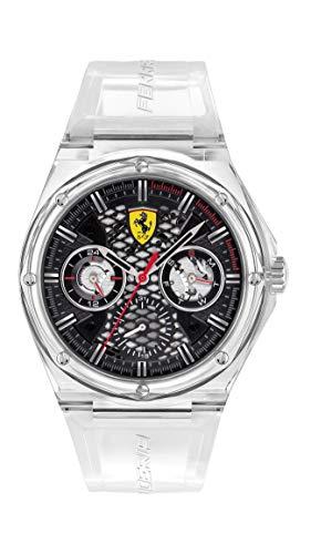 Scuderia Ferrari Reloj Cosa análoga para de los Hombres de Cuarzo con Correa en Silicona 830789