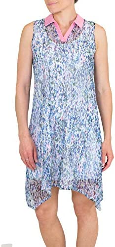 Jofit Women s Athletic Clothing Sherry Mesh Sleeveless Dress w Undershorts Size X Large product image