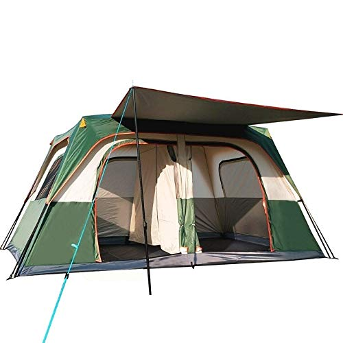 ZOUJUN Automatic Pop Up Outdoor Family Camping Tents Seasons Tourist Tent Anti-Mosquito Nsect-Proof Ventilation Waterproof Camping Tent Hiking Beach Travel 5-8 Persons