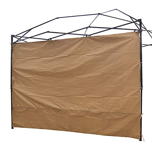 NINAT Side Sunshade Privacy Panel Wall for 3M Gazebos/Canopy Tent Waterproof(Canopy Frame Not Included), Khaki