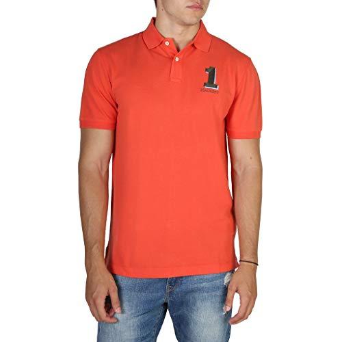 Photo of Hackett London Men's New Classic Polo Shirt, (Orange Red 230), X-Small