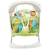 Fisher-Price Balancelle Compacte 2-en-1 balancelle et siège bébé avec vibrations apaisantes, chansons et sons, jusqu'à 11,3kg, CCN92