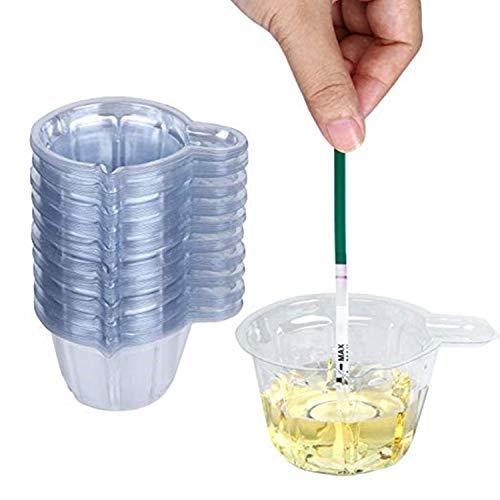 JinYu 50 Stück Urin Becher Kunststoff Urin Sammelbecher Einweg Urin Probenbecher für Schwangerschaft Test, 40 ml/ 50 ml (40ml)