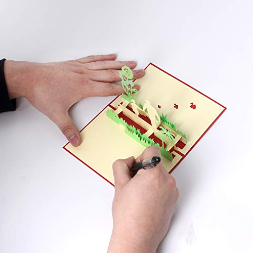 Tarjeta de felicitación 3D para el día del padre de la hija del hijo, tarjeta de agradecimiento de Navidad (tarjeta de hija)