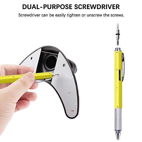 RETON 28 Pcs 6 in 1 Multitool Pen Set with Screwdriver, Ruler, Level Gauge, Touch Screen Stylus, Ball Pen, Including 8 Pcs Tech Tool Pen and 20 Pcs Pen Refills for Men