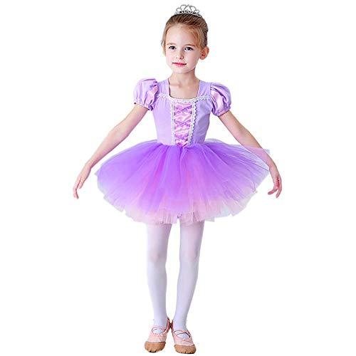 Lito Angels Niñas Tutús de Ballet Bailarina Danza Disfraz Ropa de Baile Princesa Rapunzel Vestido 5-6 años Morado