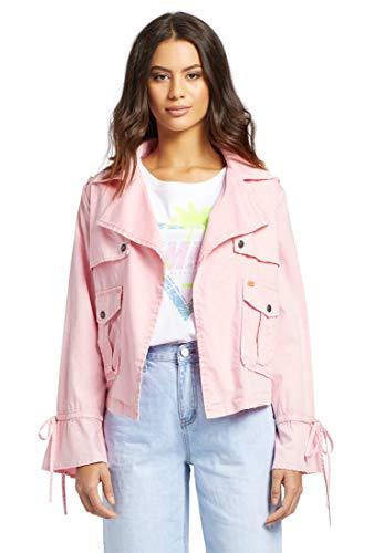 khujo Damen Jacke Sierra mit offenem Schnitt Sommerjacke mit aufgesetzten Taschen