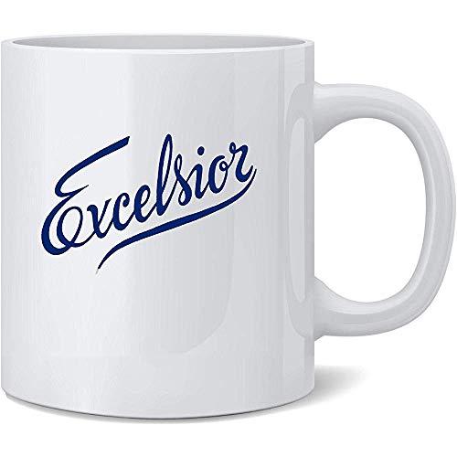 Excelsior Retro berühmte motivierende inspirierende Zitat-Text-Keramik-Kaffeetasse-Kaffeetassen-Tee-Schalen-Spaß-Neuheits-Geschenk
